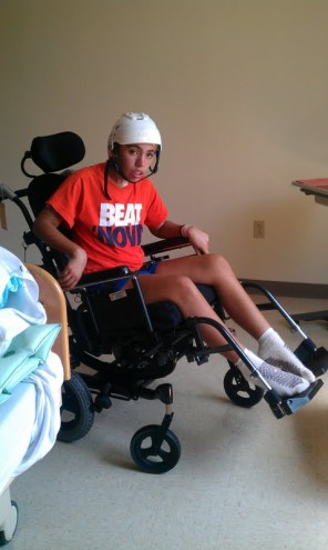 Me in the wheel chair